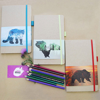 Новинка! Эко-скетчбуки для рисования.